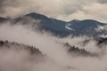Global Warming. Mountain Landscape. Clouds And Fog Stock Image - 46347381