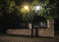 Streetlight At Night Royalty Free Stock Image - 46351876