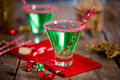 Christmas Emerald Green Cocktail Stock Images - 46360574