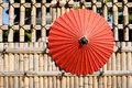 Japanese Traditional Red Umbrella Royalty Free Stock Photo - 46373315