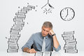 Man Working Till Late Royalty Free Stock Image - 46379646