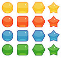 Buttons Shapes Set Royalty Free Stock Photography - 46386577
