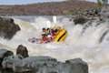 Negotiating Hell S Gate In The Gariep River (Orange River), Sout Royalty Free Stock Images - 46389799