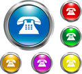 Solid Telephone Button Stock Image - 4642681