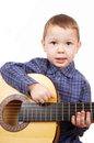 The Boy The Guitarist Royalty Free Stock Photo - 4648285