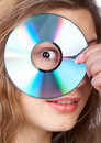 Woman And CD Stock Images - 4648384