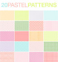 20 Pastel Patterns Stock Photography - 46422992
