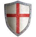 Old Templar Or Crusader Metal Shield Isolated Stock Image - 46424711