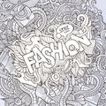 Fashion Hand Lettering And Doodles Elements Stock Photos - 46425483