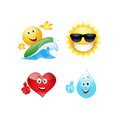 Summer Emoticon. Royalty Free Stock Images - 46434509