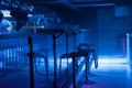 Interior Of A Modern Bar With Moody Blue Lighting Stock Photo - 46439320
