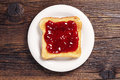 Toast With Jam Stock Photography - 46442062