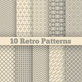 Retro Different Seamless Patterns. Vector Royalty Free Stock Photo - 46446645