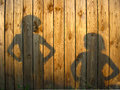 Shadow Of Boy And Girl Staring Each Other Stock Images - 46450194