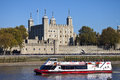A Tourist Boat Passing The Tower Of London Stock Photos - 46454573
