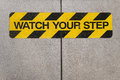 Watch Your Step Construction Warning Sign Royalty Free Stock Image - 46455796