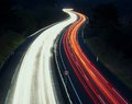 Speed Traffic - Light Trails On Motorway Highway At Night, A8 Royalty Free Stock Photos - 46471368