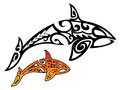 Killer Whale Tribal Stock Images - 46486284