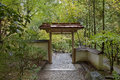 Entryway At Japanese Garden In Autumn Season Royalty Free Stock Images - 46489509