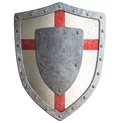Old Templar Or Crusader Metal Shield Isolated Royalty Free Stock Images - 46493319