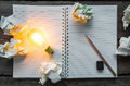 Note Book And Light Bulb Stock Image - 46496161