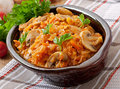 Stewed Cabbage With Mushrooms Stock Images - 46498754