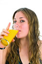 Girl Drinking Juice Stock Photography - 4654662