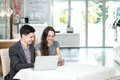 Successful Meeting! Young Businesspeople Sitting At The Table An Royalty Free Stock Photos - 46502078