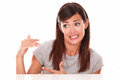 Attractive Young Woman With Error Gesture Stock Image - 46511841