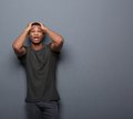 Surprised Man With Hands On Head Stock Images - 46512034