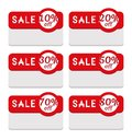 Sale Tag Template Featuring Various Discount Percentage Stock Images - 46519274
