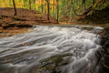Waterfall In Autumn Stock Photography - 46524242