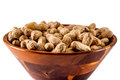 Peanuts In Wooden Bowl Stock Photo - 46526250