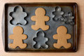 Gingerbread Man Cookies And Cutters Stock Photos - 46527483