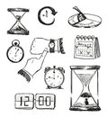 Sketch Of Time Symbols. Time Icons. Stock Images - 46552254