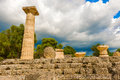 The Temple Of Zeus Ruins In Ancient Olympia, Peloponnes, Greece Royalty Free Stock Photo - 46562195