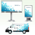 Template Outdoor Advertising Or Corporate Identity On The Car, Billboard And Citylight. Stock Images - 46562394
