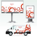 Template Outdoor Advertising Or Corporate Identity On The Car, Billboard And Citylight. Stock Photos - 46562423