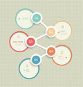 Minimal Circles Infographic Template Design. Label Design With  Place For Your Content Royalty Free Stock Images - 46573559