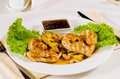 Pineapple Cashew Chicken Dish Served In Restaurant Royalty Free Stock Image - 46582746