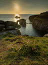 Lands End Sunset Royalty Free Stock Photo - 46583935