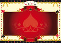Poker Game Ace Of Spades Horizontal Background Stock Image - 46595621