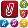 Icon Series: Paper Clip Royalty Free Stock Image - 4664426