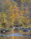 Fall Colors, Patapsco River, Rapids Trail, McKeldin Recreation Area, Patapsco Valley State Park, MD Royalty Free Stock Photography - 46602377