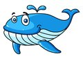 Cartoon Whale With A Water Spout Royalty Free Stock Photography - 46608907
