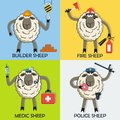 Sheep Professional Character Vector Set Stock Photos - 46609703