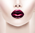 Sexy Red Lips Royalty Free Stock Images - 46610519