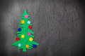 Christmas Tree With Toys Made of Felt Stock Images - 46618104