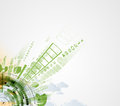 Abstract Green Eco Technolgy Business Concept Royalty Free Stock Photo - 46620585