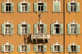 Shuttered Windows In Italy Royalty Free Stock Image - 46642516